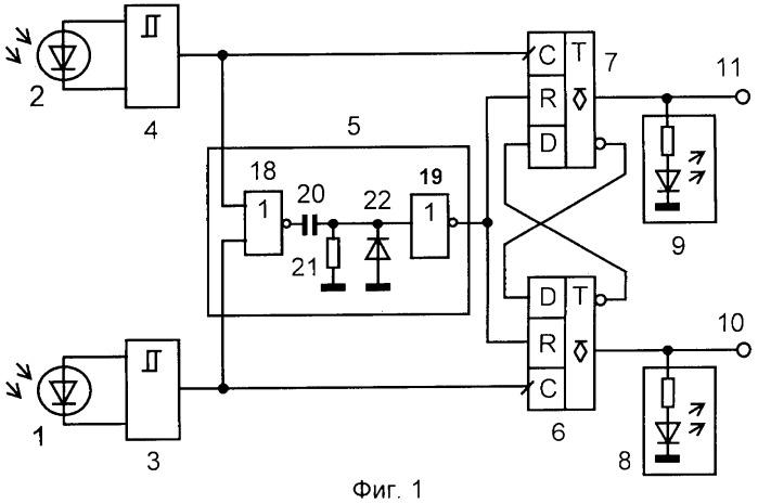 Устройство контроля направления перемещения нагретых металлических и неметаллических изделий