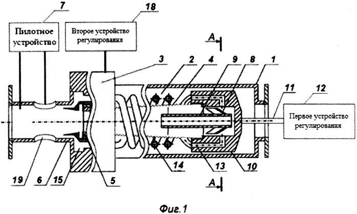 Вихревой регулятор давления