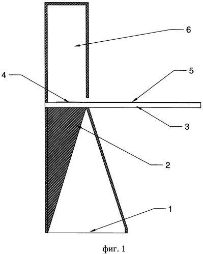 Волноводно-микрополосковый переход с запредельной нагрузкой