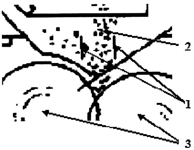 Устройство для управления свойствами потока измельчаемого материала в подающем блоке измельчителя