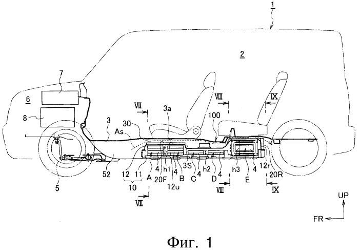 Структура охлаждения батареи аккумуляторов транспортного средства
