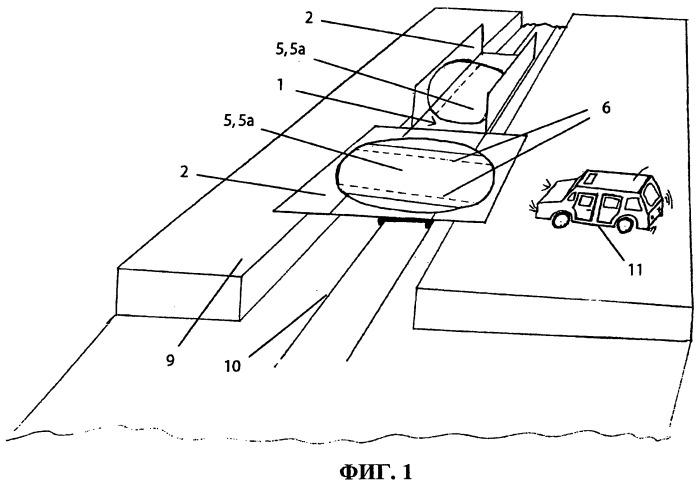 Транспортная единица с ориентирующим устройством для автомобиля