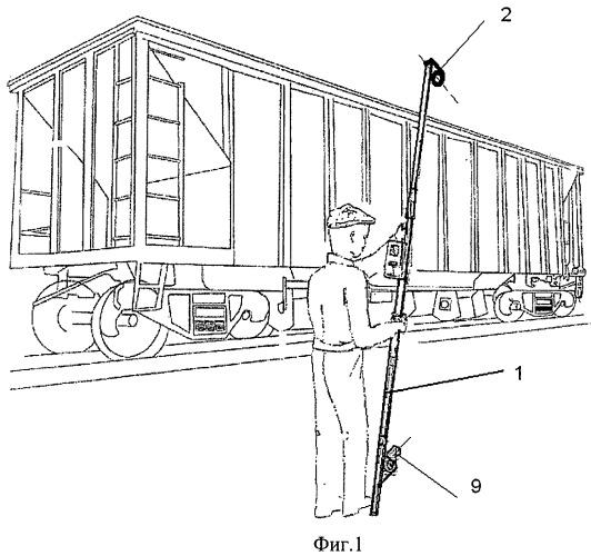 Устройство для осмотра вагонов
