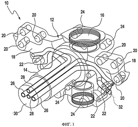 Литой поворотный кулак рулевого управления и содержащее его транспортное средство