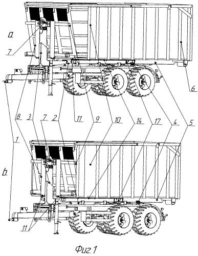 Транспортное средство со сменным кузовом для перевозки легковесных сельскохозяйственных грузов