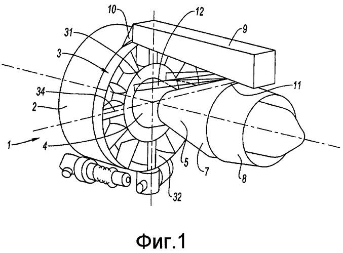 Турбореактивный двигатель, подвешенный к пилону летательного аппарата