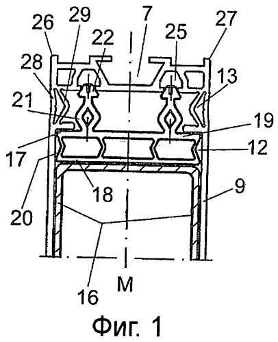 Противовзрывная несущая профильная конструкция фасадной системы
