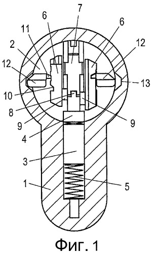 Цилиндрический замок с корпусом цилиндра и ключ английского замка для цилиндрического замка