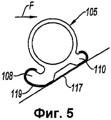 Капот решетчатого реверсора тяги с опорой уплотнения и соответствующее уплотнение
