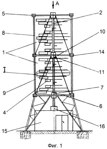 Ветроколесо карусельно-лепесткового типа