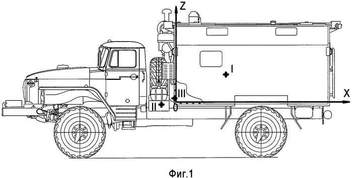 Способ расчета массово-геометрических и нагрузочных параметров транспортного средства специального назначения
