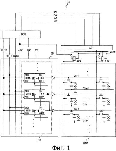 Схема возбуждения дисплея, дисплейная панель и устройство отображения