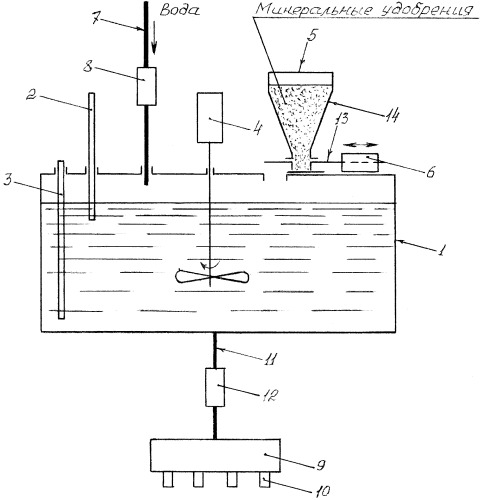 Установка для автоматизированного приготовления рабочих растворов