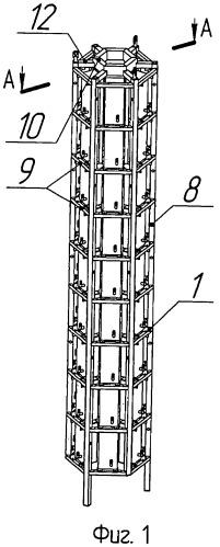 Устройство ультразвуковой очистки рабочих кассет и тепловыделяющих сборок атомных реакторов