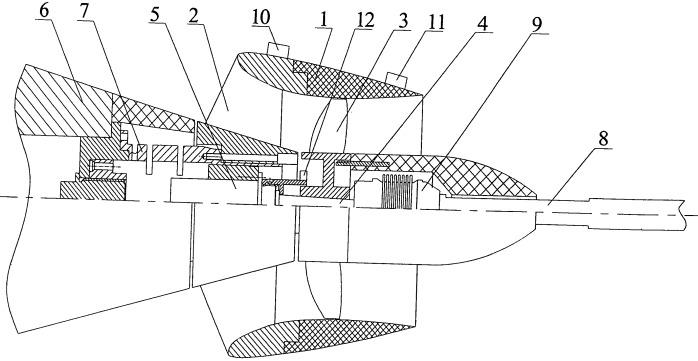 """Устройство для измерения характеристик нестационарных сил, возникающих на модели движительного комплекса типа """"винт-насадка"""""""