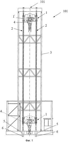 Монолитная перемещаемая буровая установка для роторного бурения скважин