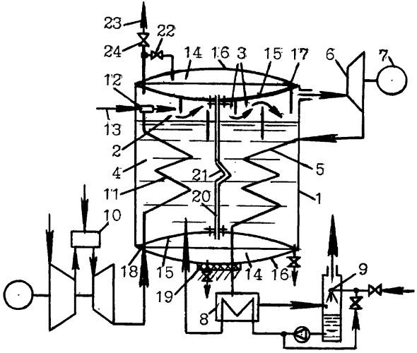 Энергетическая парогазовая установка
