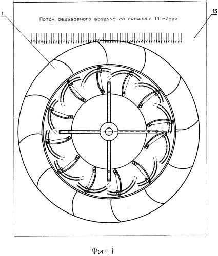 Макет ветродвигателя для настройки ветродвигателя на заданные ветровые условия