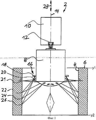 Устройство для отображения внутренней поверхности полости в детали