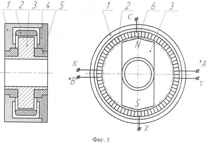 Бесконтактный датчик скорости вращения и положения ротора
