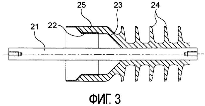 Устройство для контроля повышенного электрического поля в изолирующем синтетическом материале, в частности для токового ввода через стенку
