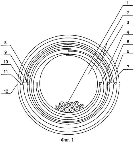 Оптический кабель связи с открытым модулем
