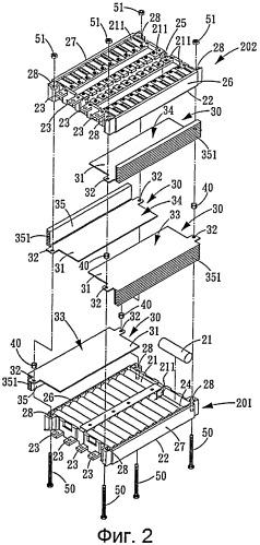 Аккумуляторная батарея с теплоотводящей конструкцией