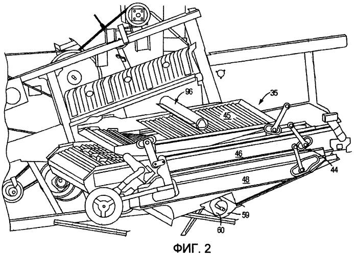 Система механической подачи недомолота для вторичного обмолота на возвратную доску