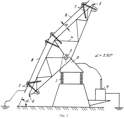 Способ и устройство для электрофизического воздействия на атмосферу