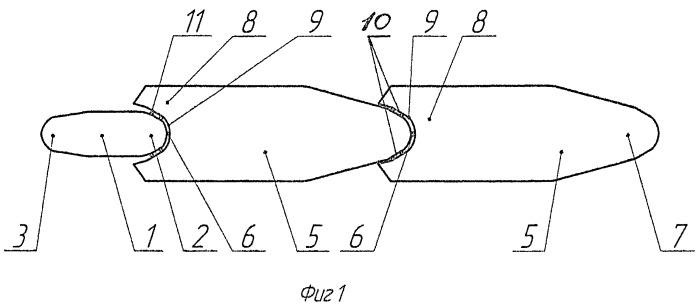 Модульно-интегральный барже-буксирный состав
