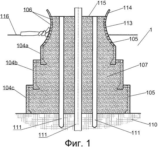 Опорная структура морского комплекса, опора и способ монтажа опорной структуры
