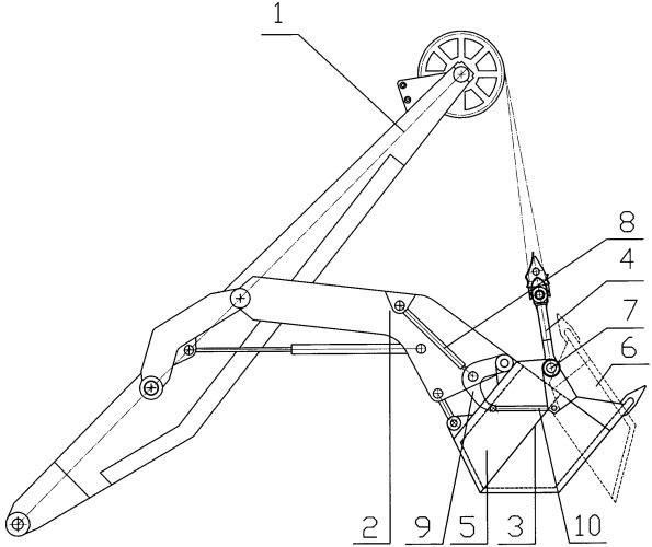 Рабочее оборудование карьерного канатного экскаватора