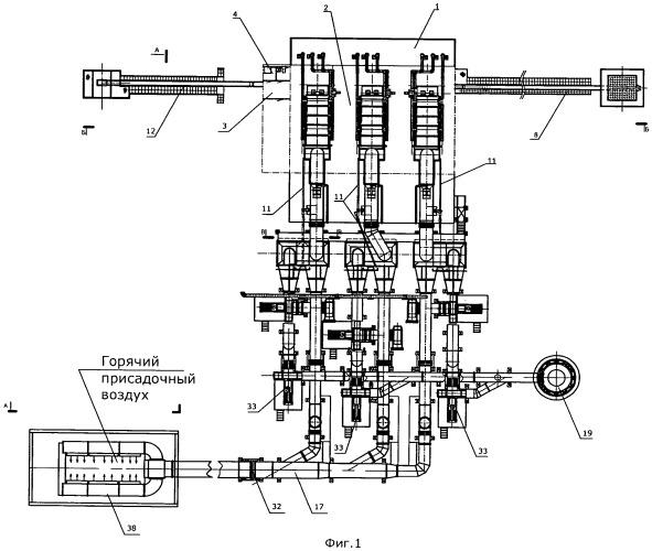 Теплоэнергетический комплекс для теплоснабжения горных выработок и помещений большого объема