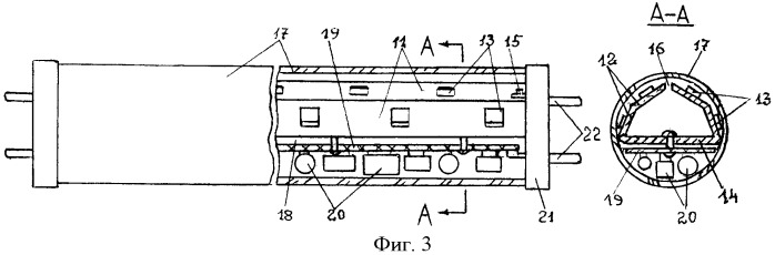 Светодиодный модуль (линейка) и лампа на его основе