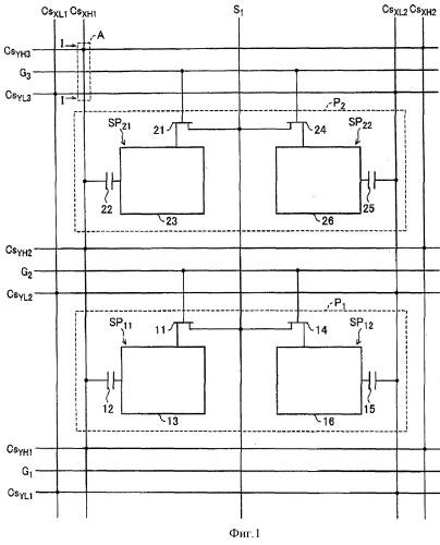 Подложка, содержащая тонкопленочные транзисторы и жидкокристаллический дисплей, в котором использована такая подложка