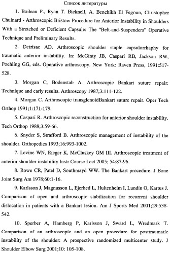Способ артроскопической теномиопластики переднего отдела капсулы плечевого сустава для лечения его рецидивирующей нестабильности