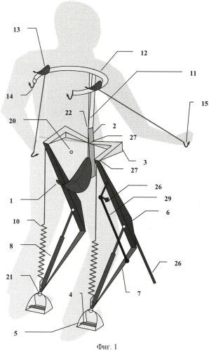 Простая конструкция компенсации веса человека при ходьбе и беге