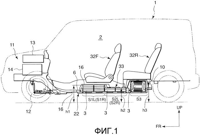 Конструкция для установки аккумуляторной батареи транспортного средства