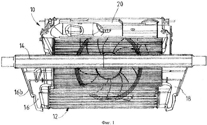 Боковой конфузор передней части конструкции транспортного средства, соответствующая передняя часть конструкции и способ монтажа такой конструкции