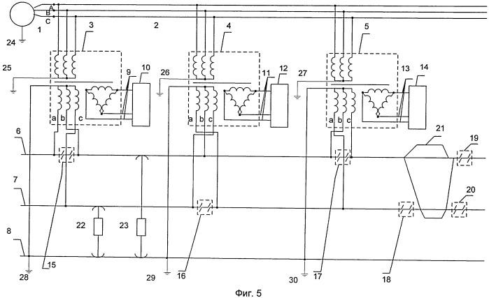 Устройство для электроснабжения железных дорог переменного тока двухпутного участка