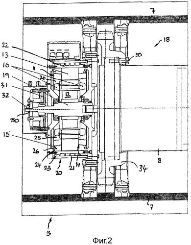 Электрический гусеничный ходовой механизм, а также его применение для самоходной рабочей машины