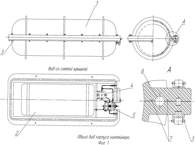 Герметичный контейнер для плота спасательного комплекса