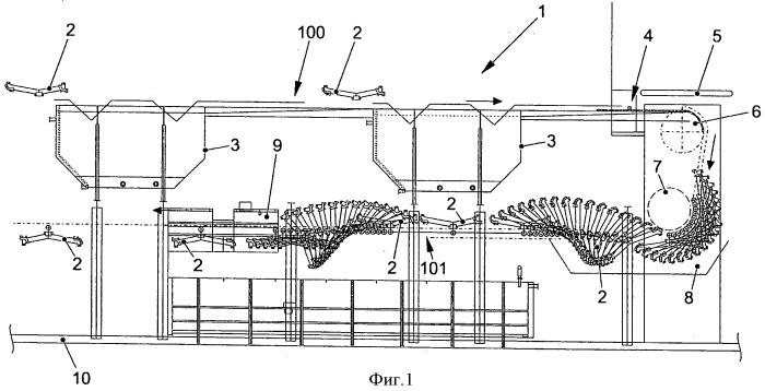 Установка и способ обработки поверхности деталей, в частности, кузовов автомобилей