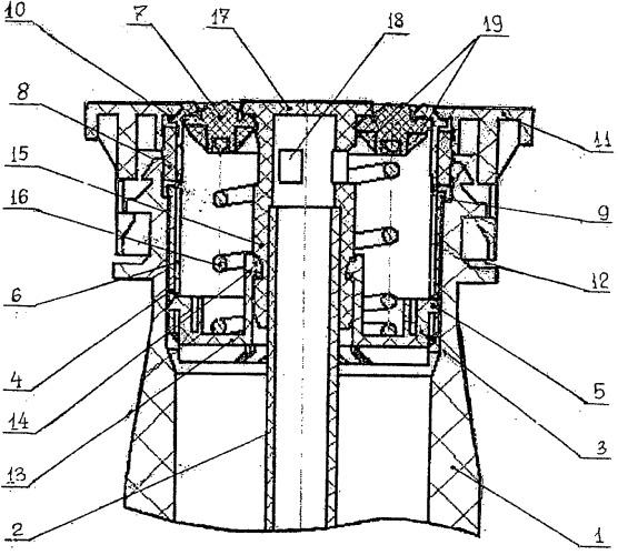 Клапанное устройство емкости для хранения и выдачи жидкости