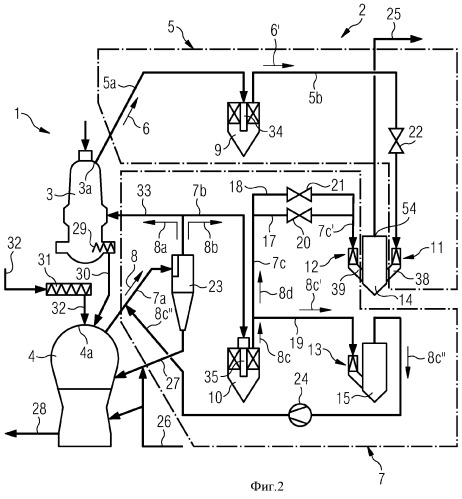 Устройство для очистки технологического газа для установки восстановительной плавки для получения чугуна