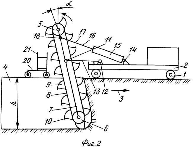 Передвижной комплекс для проходки траншеи при подземной прокладке трубопровода