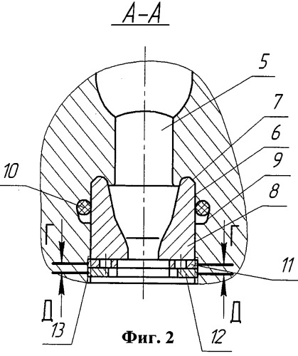 Буровое долото с промывочным узлом