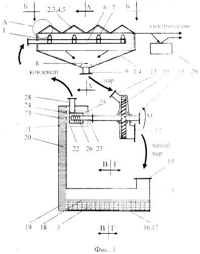 Паротурбинная гелиотеплотрубная установка