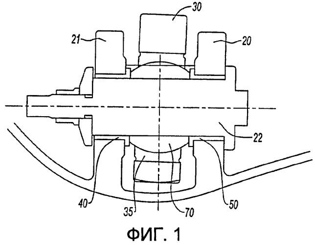Средство блокировки вращения оси, поддерживающей орган подвески газотурбинного двигателя