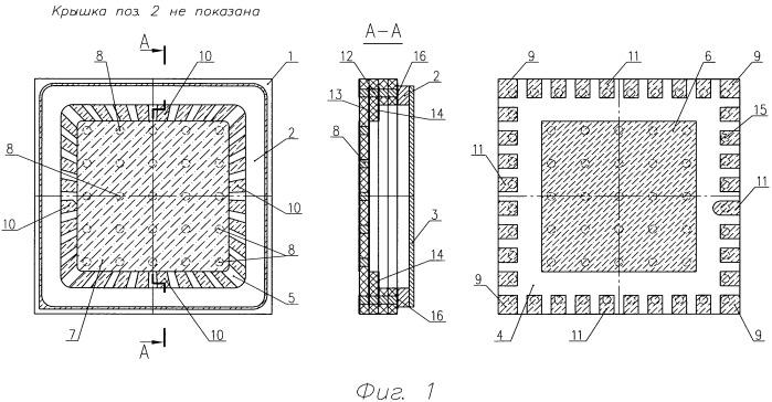 Герметичный корпус для полупроводникового прибора или интегральной схемы свч-диапазона